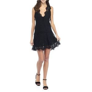 Free People Black Heart In Two Lace Dress L NWT
